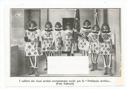 Arezzo 1930. Settimana Aretina, I Valletti Dei Rioni. , Cm. 13,5 X 9. - Documenti Storici