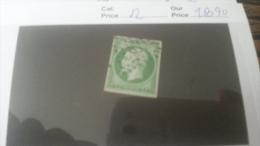 LOT 233732 TIMBRE DE FRANCE OBLITERE N�12 VALEUR 90 EUROS