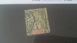 LOT 233732A TIMBRE DE COLONIE ANJOUAN OBLITERE N�13 VALEUR 90 EUROS