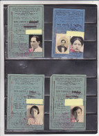 Asie Indochine Tonkin Hano� ensemble famille 7 carte identit� Chemin de fer Ann�es 1935-1938