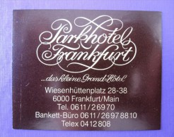 HOTEL PENSION PARK TOURISM FRANKFURT GERMANY DEUTSCHLAND TAG DECAL STICKER LUGGAGE LABEL ETIQUETTE AUFKLEBER BERLIN - Hotel Labels