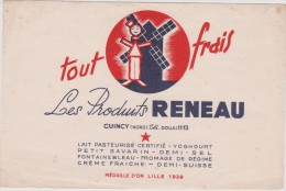 Buvard :  Produit  Reneau  , Lille - Buvards, Protège-cahiers Illustrés