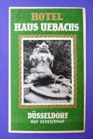 HOTEL PENSION HAUS UEBACHS DUSSELDORF GERMANY DEUTSCHLAND TAG DECAL STICKER LUGGAGE LABEL ETIQUETTE AUFKLEBER BERLIN - Hotel Labels