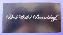 HOTEL PENSION HAUS PARK OHNE BLICK DUSSELDORF GERMANY DEUTSCHLAND DECAL STICKER LUGGAGE LABEL ETIQUETTE AUFKLEBER BERLIN