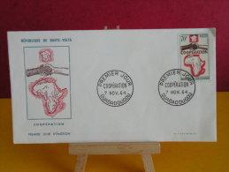 FDC- Coopération - Ouagadougou - 7.11.1964 - 1er Jour, République De Haute Volta - Haute-Volta (1958-1984)