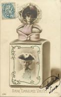 Ref C751- Flacon De Parfum -brise Embaumée Violette - Femmes -artistes ??-theme Parfumerie   -carte Bon Etat - Femmes