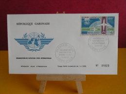 FDC- Organisation Aviation Civile Inter.. , Poste Aérienne - Libreville - 19.5.1967 - 1er Jour, République Du Gabon - Gabon (1960-...)