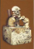 CPM PERU cultura Moche - P�rou - poterie - divinit� Mochica 5e si�cle  (civilisation pr�-inca) oiseaux - birds