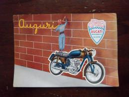 DUCATI MECCANICA - BOLOGNA - AUGURI - PUBBLICITA' - F.TO GRANDE - VIAGGIATA 1957 - Werbepostkarten