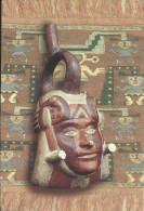 CPM PERU ceramio retrato, cultura Moche - P�rou - poterie - portrait Mochica (civilisation pr�-inca) - c�ramique peinte
