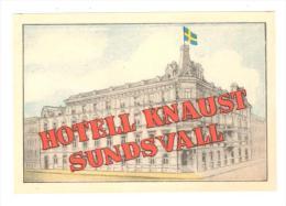 ETIQUETA DE HOTEL  -  HOTELL KNAUST  SUNDS VALL - Hotelaufkleber