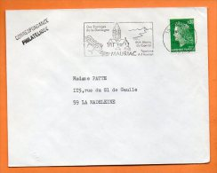 15 MAURIAC   ART ROMAN  16  / 12 /1969 Lettre Entière   N°  N 500 - Sellados Mecánicos (Publicitario)