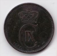 Denmark, 2 Øre, 1891 CS, 2 Scans. - Danimarca