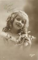 Ref C718- Enfants - Portrait De Fillette - Theme Fillettes  - Carte Bon Etat - - Portraits