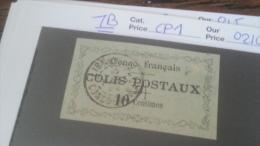 LOT 233786 TIMBRE DE COLONIE CONGO OBLITERE N�CP1 VALEUR 210 EUROS TB