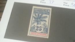 LOT 233805 TIMBRE DE COLONIE COTE IVOIRE NEUF* N�27 VALEUR 11,6 EUROS