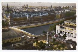 Cpsm Paris - Panorama Depuis La Tour Saint-Jacques, Châtelet, Sainte Chapelle, Notre-Dame, Palais De Justice ... - France