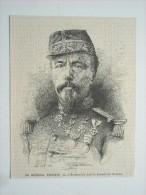 GRAVURE 1871. LE GENERAL LECOMTE, TUE A MONTMARTRE DANS LA JOURNEE DU 18 MARS........... - Stiche & Gravuren