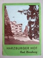 HOTEL PENSION HARZBURGER HOF BAD HARZBURG GERMANY DEUTSCHLAND TAG DECAL STICKER LUGGAGE LABEL ETIQUETTE AUFKLEBER BERLIN