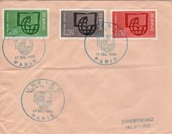 Envelope - Cachet  PJ  Unesco   à Paris  Le 17.12.1966 - Lettres & Documents