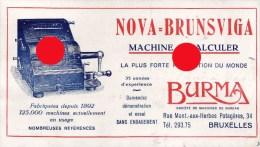 Machines De Bureau BURMA Bruxelles Rue Montagne Aux Herbes Potagères NOVA BRUNSVIGA - Buvards, Protège-cahiers Illustrés