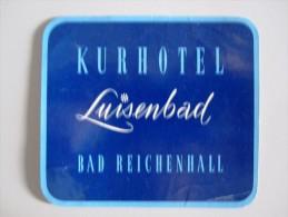 HOTEL PENSION LUISEN BAD REICHENHALL GERMANY DEUTSCHLAND TAG DECAL STICKER LUGGAGE LABEL ETIQUETTE AUFKLEBER BERLIN