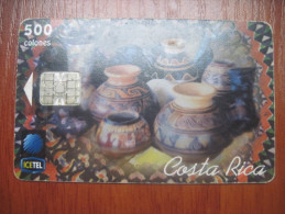 Costa Rica . ICETEL. Local Folk Craft. 500 Colones. - Costa Rica
