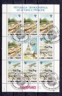 Treinen, Trains, Locomotive,Eisenbahn, Railway : S. Tome E Principe 1982 Mi Nr Blok 90 - Trains