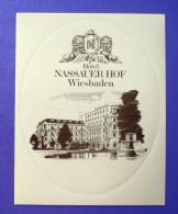 HOTEL PENSION NASSAUER HOF WIESBADEN GERMANY DEUTSCHLAND DECAL STICKER LUGGAGE LABEL ETIQUETTE AUFKLEBER BERLIN