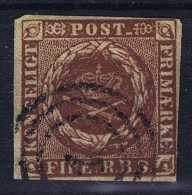 Danmark: 1851 Mi Nr 1 Yv Nr 2 Used - Oblitérés
