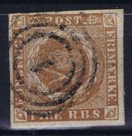 Danmark: 1851 Mi Nr 1 Yv Nr 2b Used  Brun Clair - Used Stamps