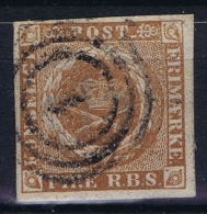 Danmark: 1851 Mi Nr 1 Yv Nr 2b Used  Brun Clair - Usati