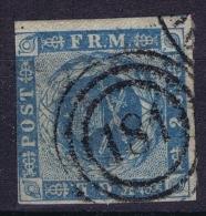 Danmark: 1854 Mi Nr 1 Yv Nr 3 Used  Cancel 181 - Oblitérés