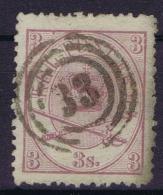 Danmark: 1864  Yv Nr 12 Used   Cancel 33 - 1864-04 (Christian IX)
