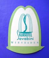 HOTEL PENSION SAVABINI WIESBADEN GERMANY DEUTSCHLAND DECAL STICKER LUGGAGE LABEL ETIQUETTE AUFKLEBER BERLIN