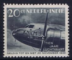 Dutch East Indies:NVPH Nr 240 MH/* Plate Error White Dot In 2 Of 20, Witte Stip In 2 Van 20
