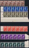 Curacao: 1948 NVPH 200 - 205 In Strips Of 6 MNH/** Some Brown Spots - Curaçao, Nederlandse Antillen, Aruba