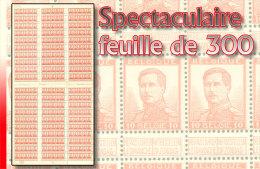 Belgium 0123** 10c  - Albert I Feuille de 300