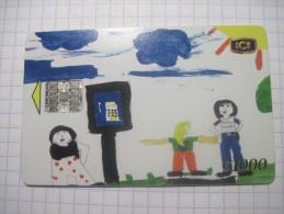 Costa Rica . ICETEL. Children`s drawing. 1000 colones.