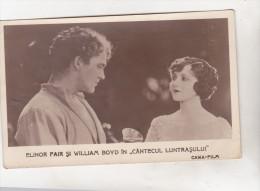 Romania Old Uncirculated Postcard - Movie Stars - Elinor Fair And William Boyd - Acteurs