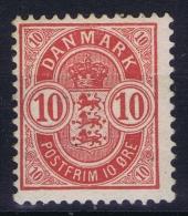 Denmark: 1882 Yv Nr 36, MH/* - Nuovi