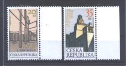 """Ceska Republika  464/65  **  (MNH)   """" Palac Stoclet """" - Tschechische Republik"""