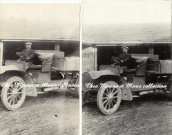 LOT DE 2 PHOTOS ANNEES 1910 11.5 X 7.5 CAMION OPEL 2482 - Automobiles