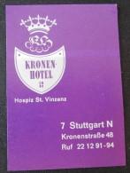HOTEL PENSION HAUSE KRONEN CROWN STUTTGART GERMANY DEUTSCHLAND DECAL STICKER LUGGAGE LABEL ETIQUETTE AUFKLEBER BERLIN
