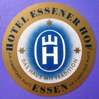 HOTEL PENSION HAUSE ESSENER HOF ESSEN GERMANY DEUTSCHLAND DECAL STICKER LUGGAGE LABEL ETIQUETTE AUFKLEBER BERLIN