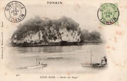 TONKIN - HANOI - LE ROCHER DES SINGES - BELLE CARTE - PRECURSEUR - JONQUES - 2 SCANNS - - Vietnam