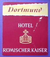 HOTEL PENSION HAUS ROMISCHER KAISER DORTMUND GERMANY DEUTSCHLAND DECAL STICKER LUGGAGE LABEL ETIQUETTE AUFKLEBER BERLIN