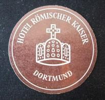 HOTEL PENSION HAUS ROMISCHER KAISER DORTMUND GERMANY DEUTSCHLAND STICKER LUGGAGE LABEL ETIQUETTE AUFKLEBER BERLIN