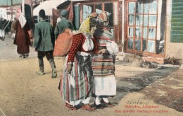 SHKODRA - EINE GEHENDE FLACHSSPINNMASCHINE- BELLE CARTE - EN COULEUR - ANIMEE - - Albania