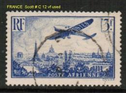 FRANCE    Scott  # C 12 VF USED - Airmail